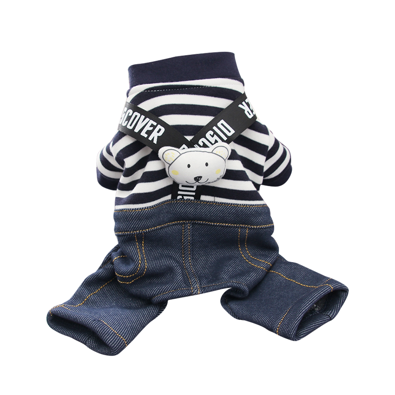 Hot Sale Comfortable pet clothes dog apparel with striped straps