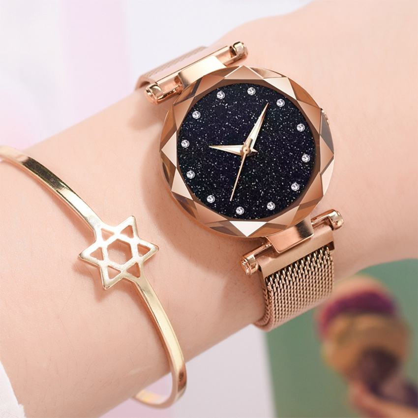 New Hot Sale Women Ladies Watches Magnetic Buckle Luxury Fashion Relogio Feminino Crystal Female Wristwatch Alloy Watches