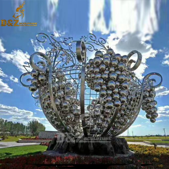 customize outdoor decorative large iron or stainless steel ball collection sculpture