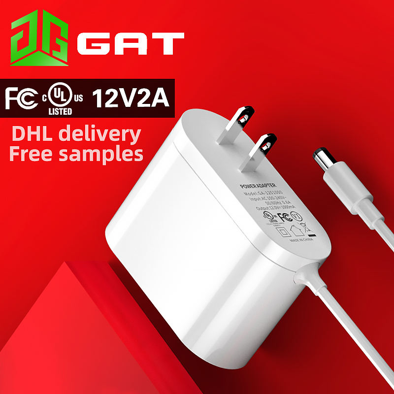 12V 2A UL certified power adapter us standard power adapter 24W high quality FCC certified wall power supply