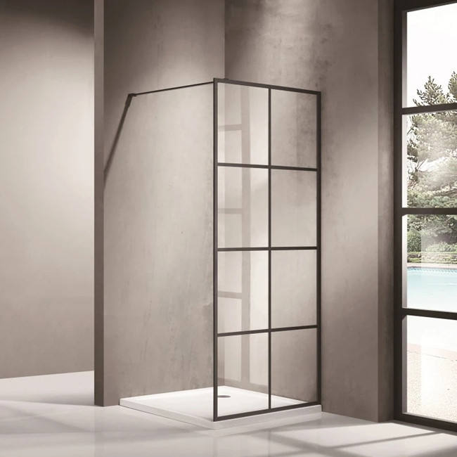 Glass Shower Enclosure Fixed Shower Screen /Bath Partition