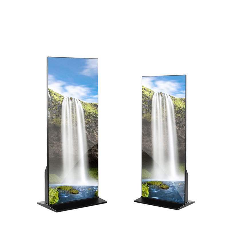 android standing lcd display frame interactive selfie mirror magic mirror with camera advertising display