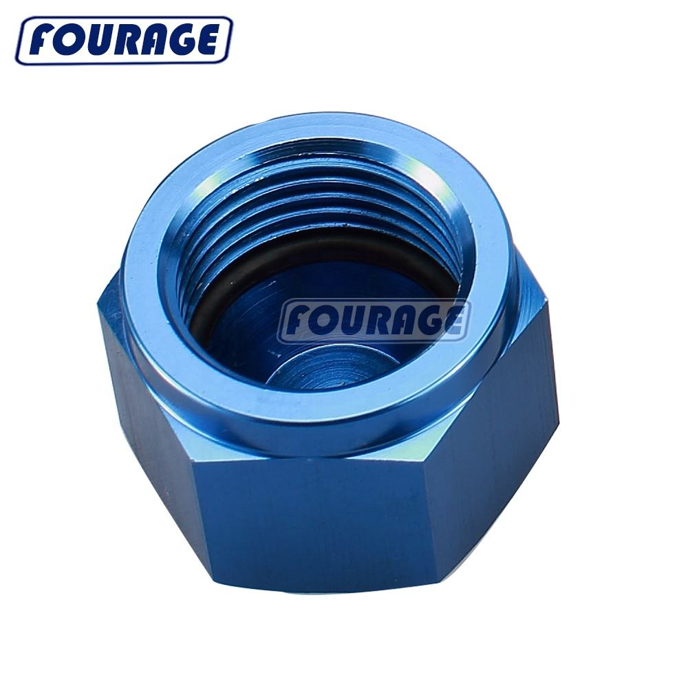Blue 8AN AN8 Aluminum Male Flare Plug Fitting with 8AN ORB O Ring Boss Thread 3//4-16 Seal Nut Block Off Cap Adapter