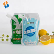 Drink Liquid Pouch Yoghurt Packing Standing Milk Storage Bags With Spout