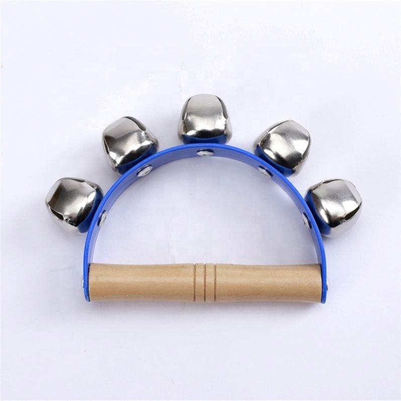 Orff kindergarten early education toy teaching aids horseshoe bell dance five bells hand bell Children's educational toys