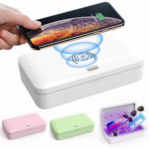 CE ROHS Certified Wireless Charger UV-C Santilization Box 15W fast Wireless Santilization Charger.