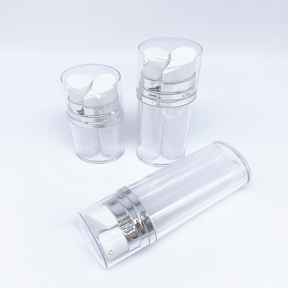 High Quality 5ml*2 Double Ended Airless Pump Bottle Cosmetic Packaging