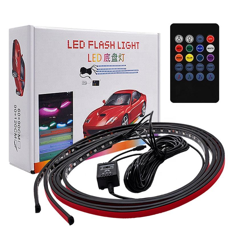 App Bluetooth Controle Auto Led Chassis Lamp Rgb <span class=keywords><strong>Underbody</strong></span> Glow Auto Sfeer Licht Auto Decoratie Verlichting