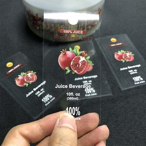 Round Transparent Label Stickers Printing Custom Clear Vinyl Plastic Stickers
