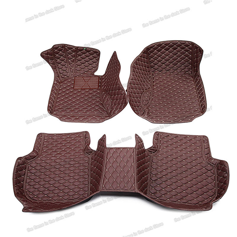 leather car floor mats for mitsubishi pajero Montero Shogun 2006 2019 2016 2015 2014 2013 2012 2011 2010 2020 2018 2009 4 v80