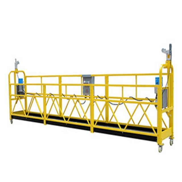 High rise building electric window cleaning equipment construction suspended platform cradle