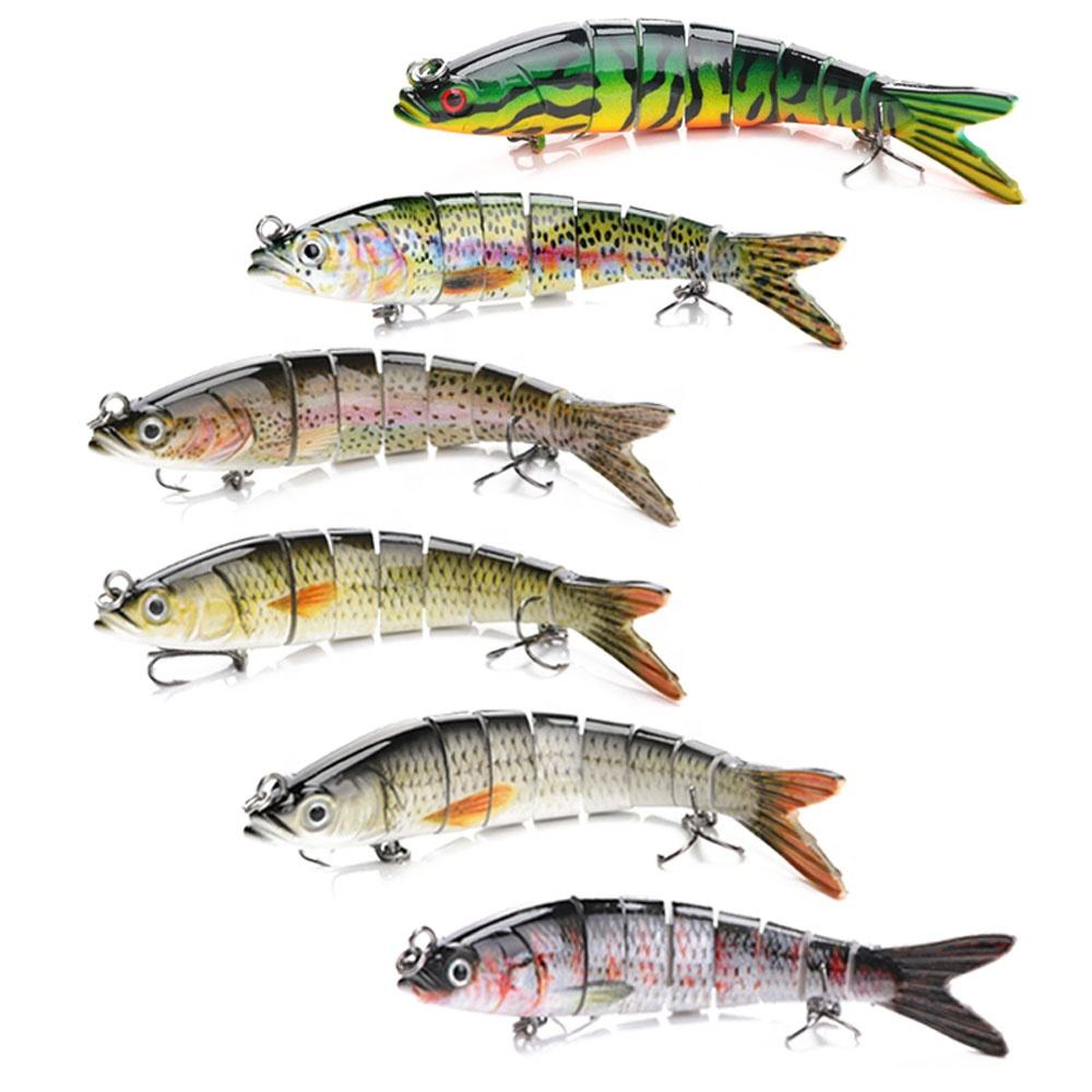 VTAVTA Pesca Fishing Swimbait Wobblers Floating Sinking Bait Hard Multi Jointed 8 Segment Fishing Lures