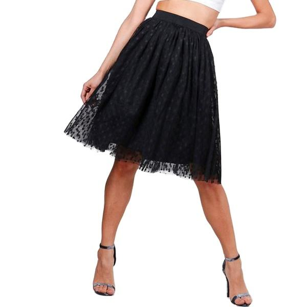 Wholesale tulle carnival polka dot skirt mini beautiful pleated skirts