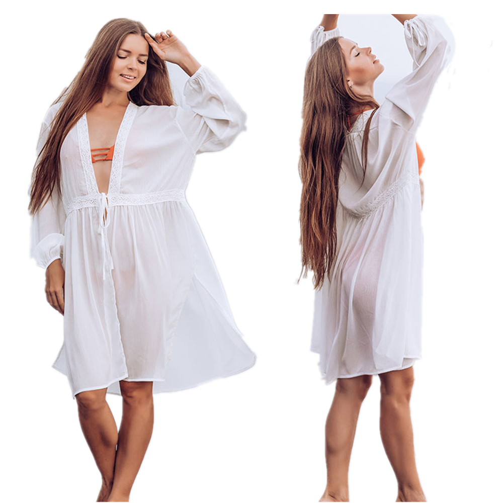 Swimsuit Cover Up Swim Chiffon Dresses Beach Tunic Bathing Suit Capes Tunics Salida De Praia 2020 Women Bikini Outlet Coverups