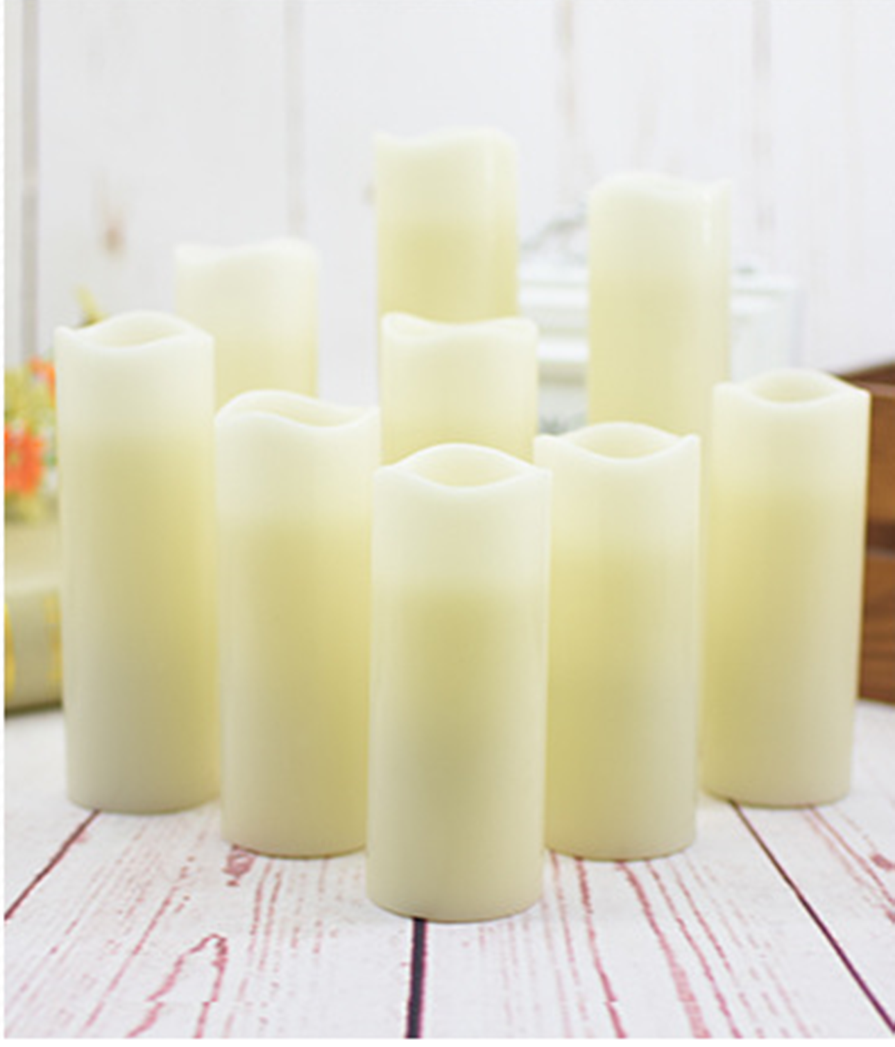 Battery Powered LED Flameless Candles- LED Candles with 18 keys remote