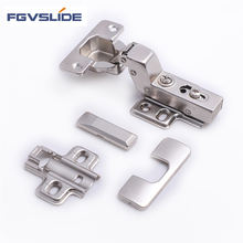 Cabinet hardware two way concealed clip on hinge