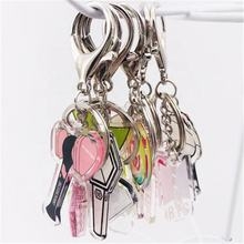 Wholesale Promotional Acrylic Korea Kpop Album Got7 Black Bangtan Boys Double-sided Transparent Twice Pink Keychain