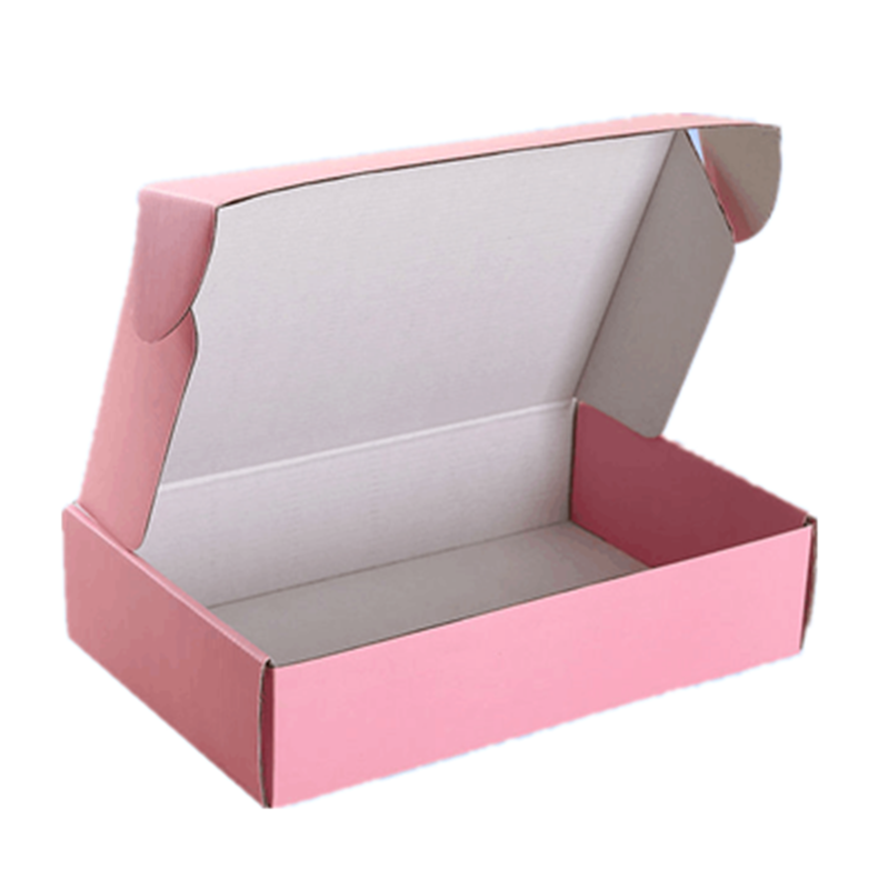 Custom Care Package Corrugated Book Mailer Personalized logo Small Packing Material Cardboard Shipping Box for Clothes