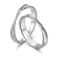 Titanium steel Mobius ring couple ring romantic diamond couple couple jewelry ring accessories custom