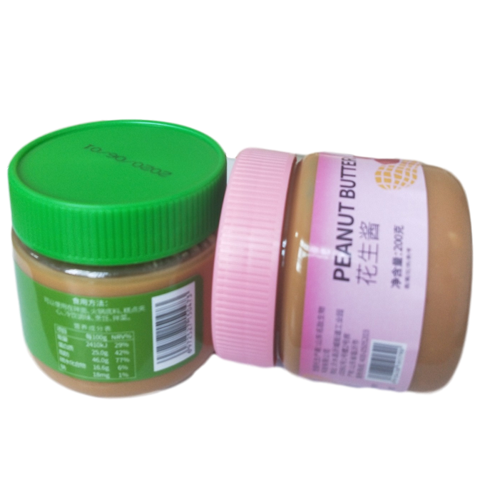 100% pure peanut butter plastic jar with customized label No additives no refined salt /sugar / stabilizers / oils