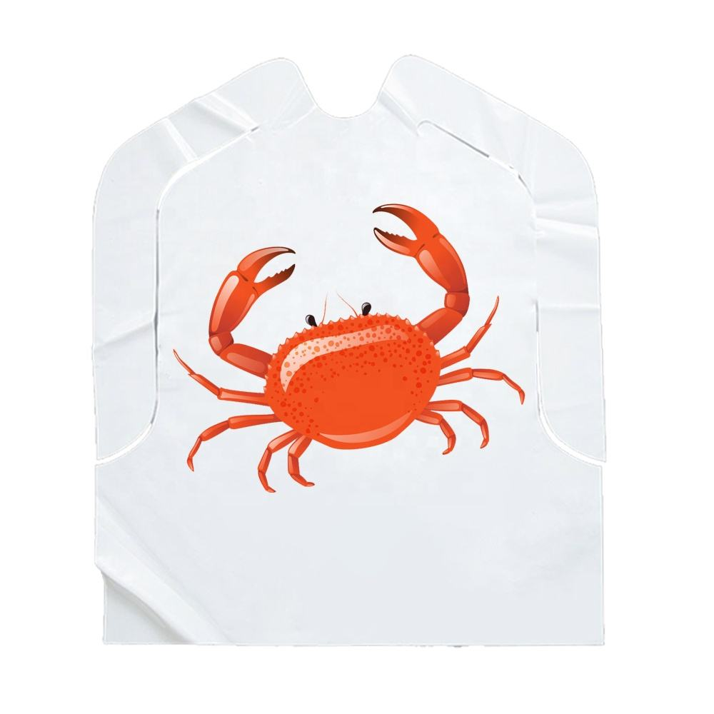 Wholesale Disposable bibs adult Apron custom Disposable seafood bibs Restaurant Bib