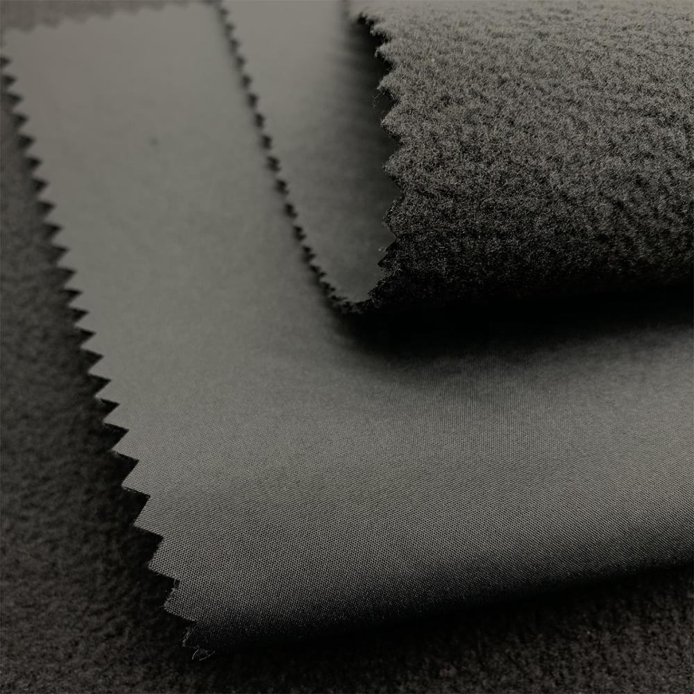 Woven Technics 100% Polyester Laminated Bonded Polar Fleece Soft-shell Polyester Fabric