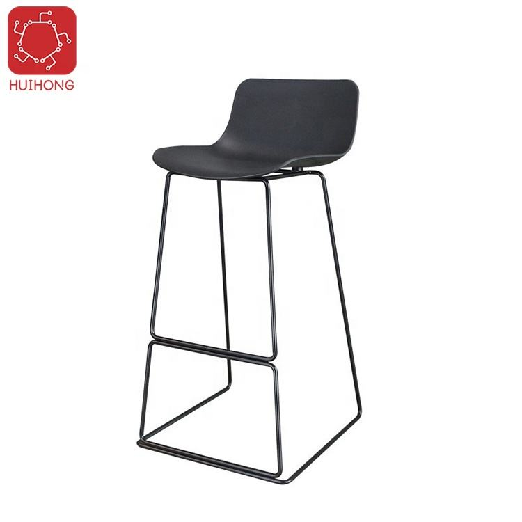 Huihong OEM sillas plasticas W460 D480 H980mm nero sedia sgabello da bar tabouret chaises haute de bar in acciaio sgabello da bar