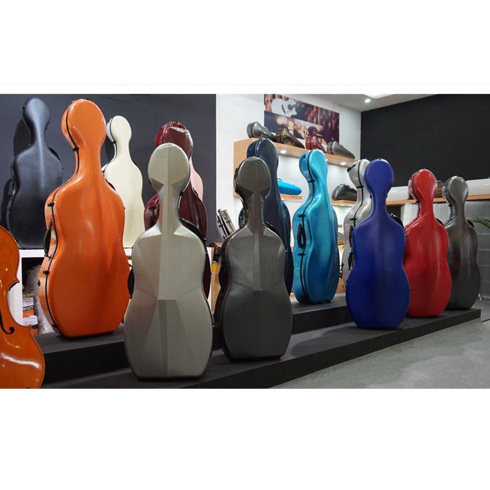high-quality carbon fiber cello case 4/4 cello case carbon fiber cello hard case with wheels 3.4kg CCY-01