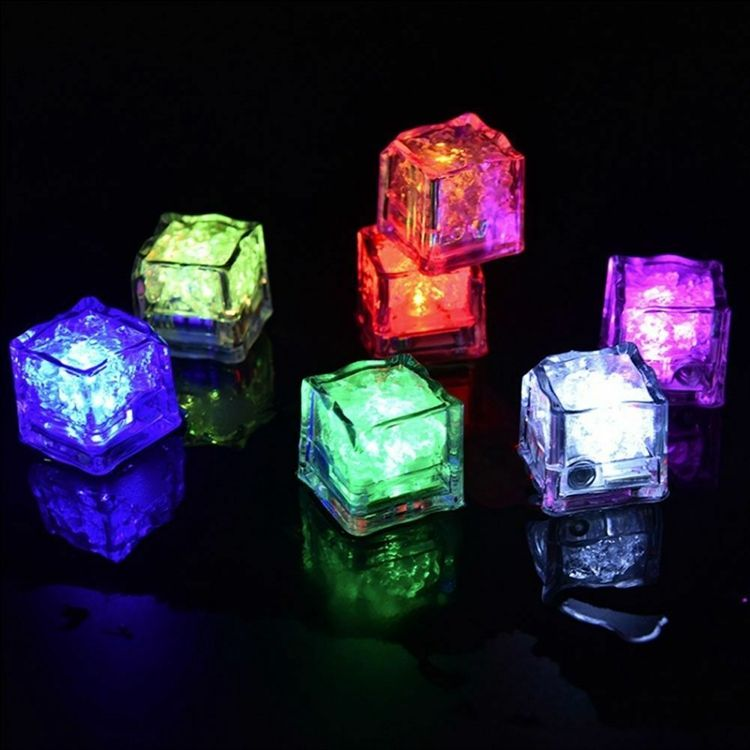 Best LED Glow Ice Cube Fast Slow Flashing LED Lights Glitter Light Up Ice Cube LED Ice Cubes For Party Bar Christmas