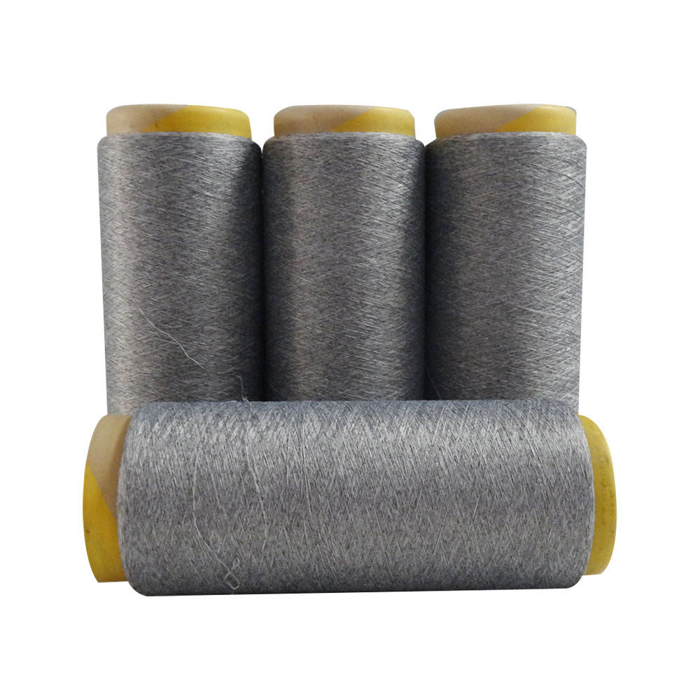 Heather Grey Polyester And Nylon Mix Colour Blend Melange AB Yarn For Seamless Underwear