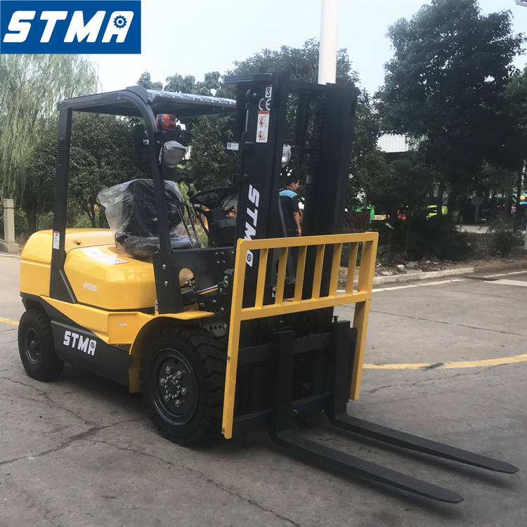 STMA high quality and low price forklift 3ton fd30t diesel forklift with 3m two stage mast and pneumatic tires
