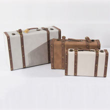 Men Cheap Mini Faux Leather Korea Trunks Storage Vintage Children Carry Luggage Case Retro Suitcase Boxes
