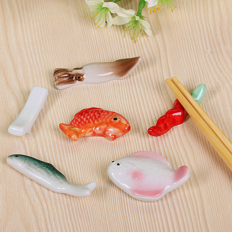 Hand carved ceramic chopsticks rack with high temperature under glaze is suitable for dishwasher microwave oven