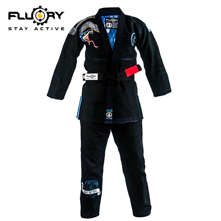 Fluory Latest design pearl weave BJJ Gi, Jiu Jitsu Gi, Ultra light BJJ Gi
