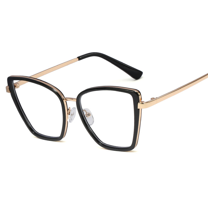 SHINELOT M1180 China Taizhou Manufacturer Wholesale PC Material Women Full Frame Black Color Metal Hinge Eyeglasses Frames