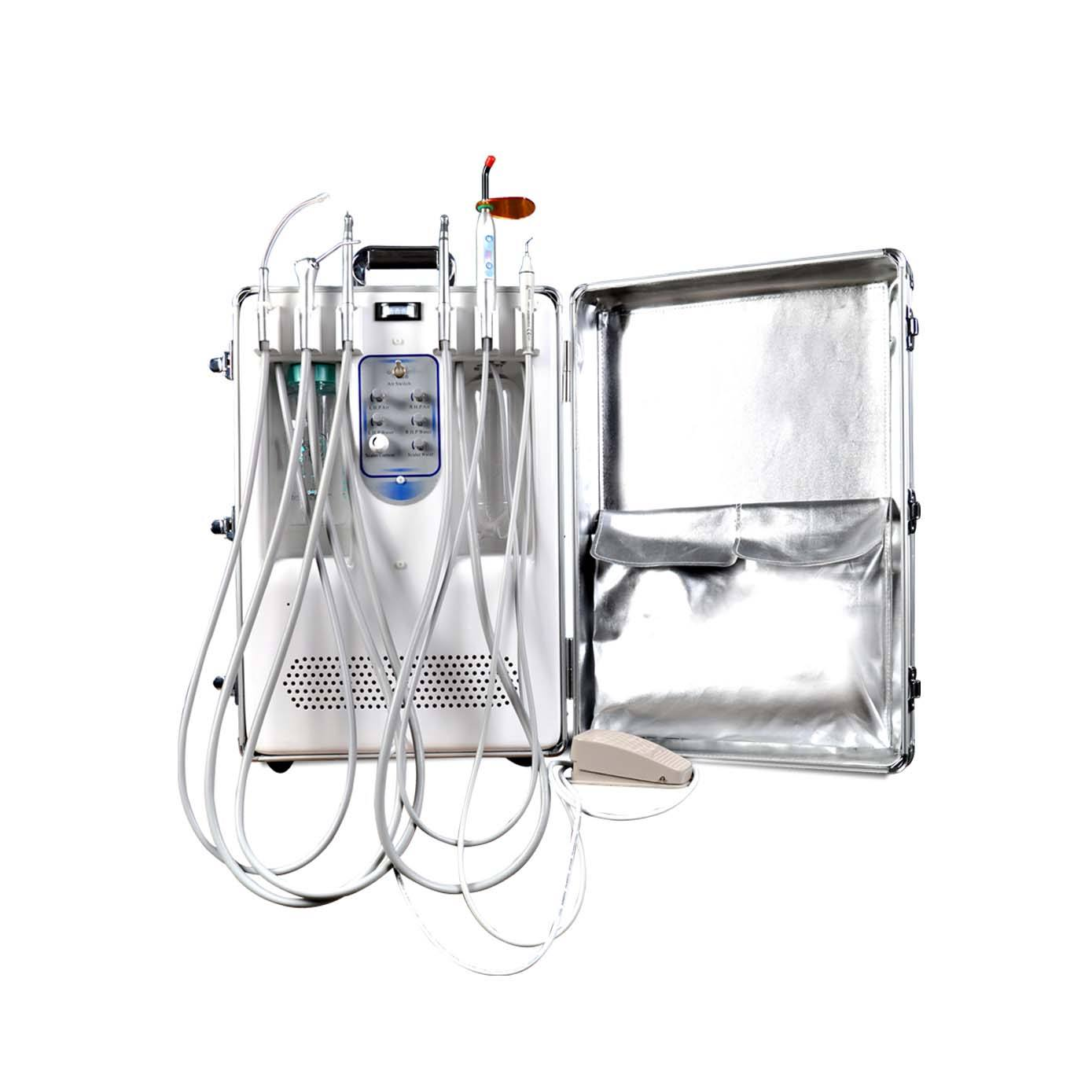 Mobile Dental Chair 2020 Equipment Portable Dental Unit Mobile Price 550W Mini Suction Air Compressor Dental Chair
