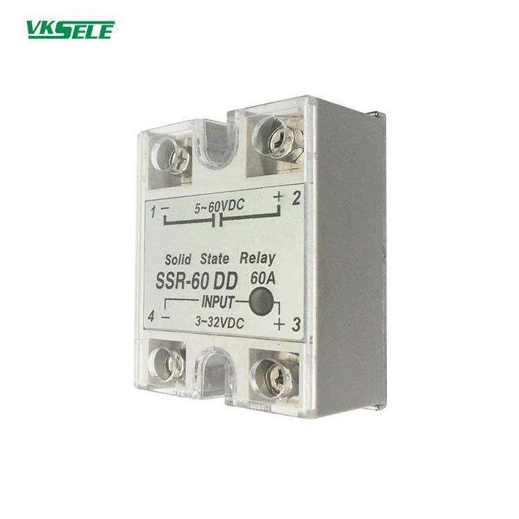 10Pcs SSR-40DD Manufacturer 40A solid state relay input 3-32VDC output 5-60VDC