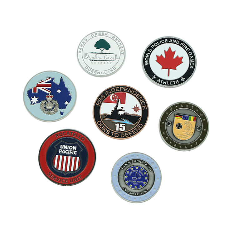 Wholesale high quality customized logo Canadian maple leaf zinc alloy custom metal collection coin