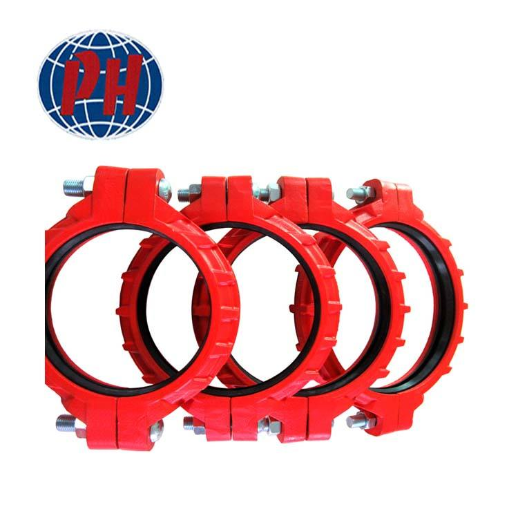 Ductile Iron Red Mineral Grooved Coupling for Mine