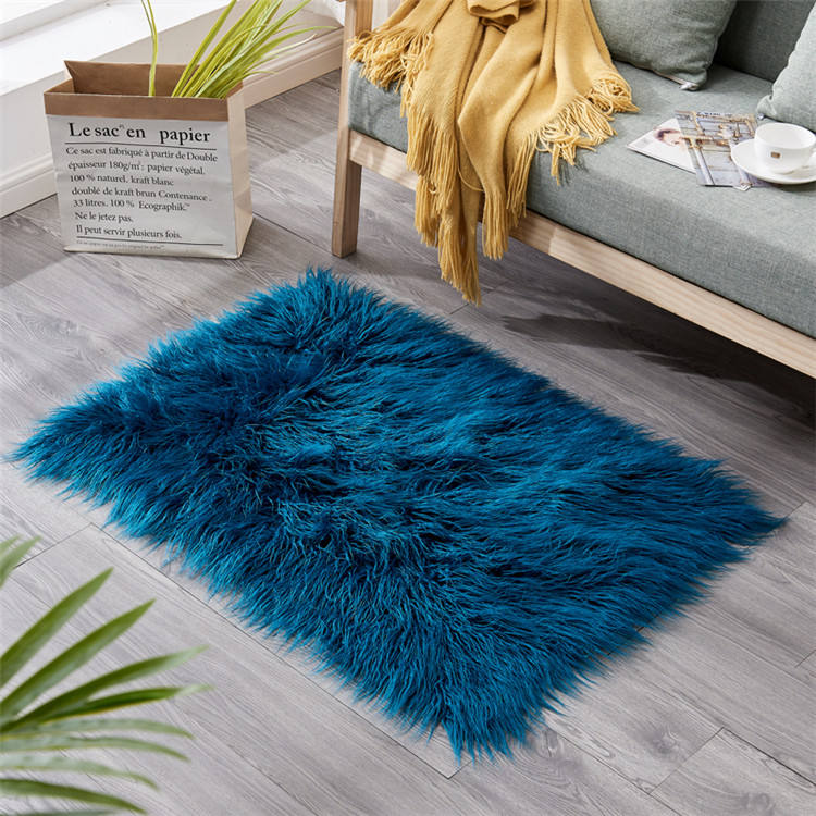"62.99""x78.74"" importer of tapetes modern soft round polyester shaggy carpets with wave"