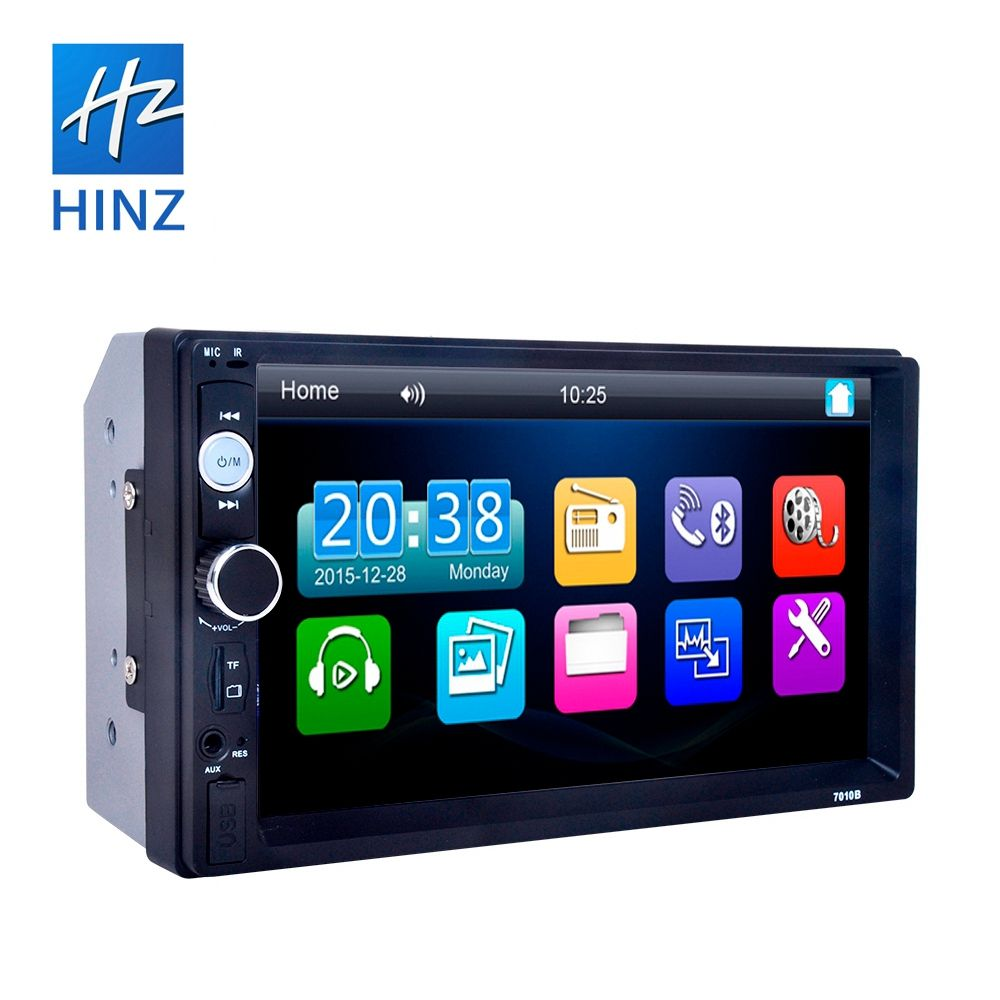 7018B 2 DIN MP5 araba Video 7''HD dokunmatik ekran Bluetooth telefon radyo Stereo araba MP5 oyuncu