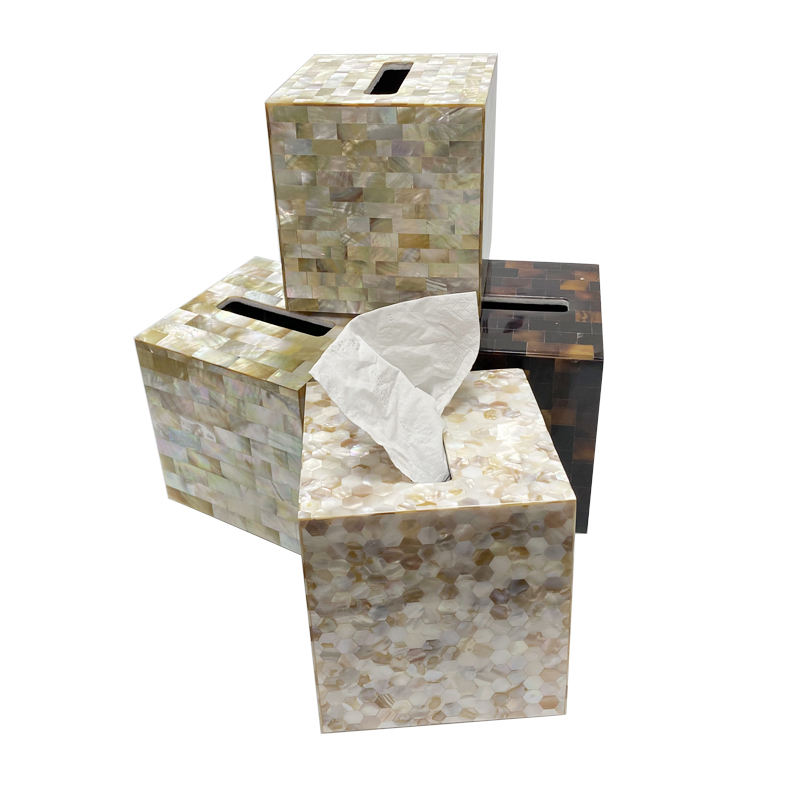 Crystal shell tissue box crystal napkin holder napkin box cover
