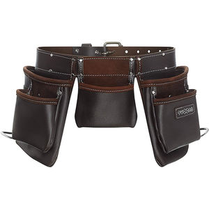 Customized Heavy Duty Waist Electrician Tool Bag Work Belt Waist PU Leather Pouches Tool Belt