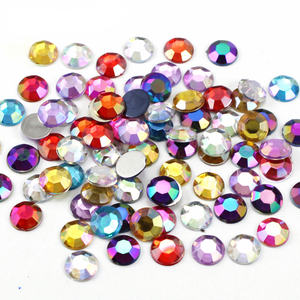 100pcs/200pcs 8mm Multi Colors Option DIY Accessories Materials Acrylic Rainbow Rhinestones Gems D1206