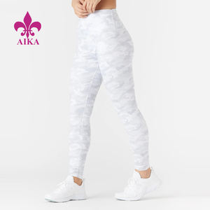 White Camo Printing Tights Compression Gym Leggings Wholesale Women Yoga Wear