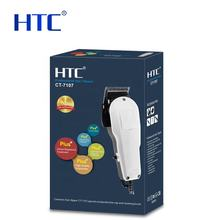 HTC new patent model barber electric beard hair liner clipper set balding hair cutting machine CT-7107