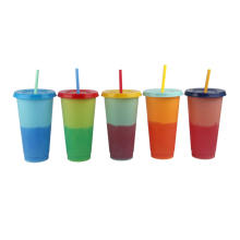 Cheap price shenzheng custom design unique magic plastic water cold color changing cup for sale