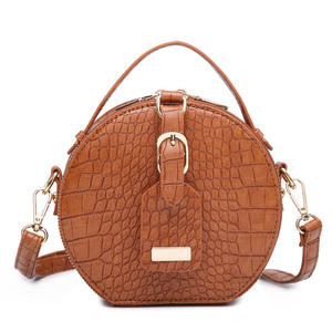Crocodile PU Leather Oval Shoulder Messenger Purses and Handbags Ladies