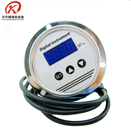 Stainless steel case 24VDC panel mounting digital pressure gauge manometer QYB130Z