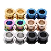 VRIUA 2-30mm Ear Gauges 316L Stainless Steel Ear Tunnels Plugs Piercing Jewelry Ear Stretchers Expander Plugs and Tunnels